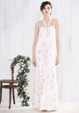 Bnwt🌹Monsoon🌹Size 10 Magnolia Multi Floral Print Silk Maxi Dress Wedding New