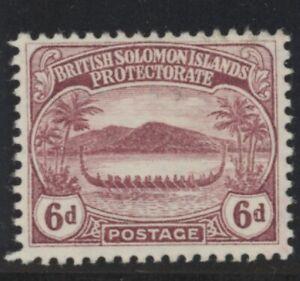 British Solomon Islands Edward VII 6d claret stamp (SG13) dated 1908 mint