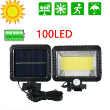COB 100 LED Solar Luz de Pared Impermeable Sensor de Movimiento Lámpara Exterior