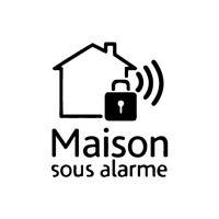 Autocollants maison sous surveillance alarme 13 Taille:4 cm