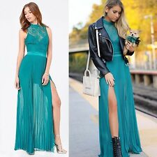 BEBE LACE BODICE MOCK NECK PLEATED GOWN DRESS $189 NEW NWT MEDIUM M 8