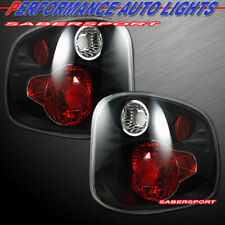 Set of Pair Black Taillights for 2001-2003 Ford F-150 SuperCrew Flareside Bed