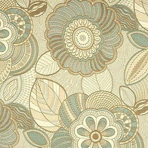 Crypton® JF Fabrics Welland Current Aqua,cream,& tan HEAVY MOD Upholstery Fabric