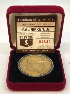 Highland Mint Cal Ripken, Jr Bronze Coin with Case 04841/25000!