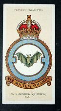 NO 9  SQUADRON  RAF    Original 1930's Vintage Card