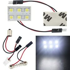 10X Cold White LED Panel 6SMD 5050 Car Interior Dome Light lamp T10 Festoon BA9S