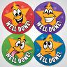 144 Well Done School Reward Stickers For Kids Children Teacher Award, 30mm Size