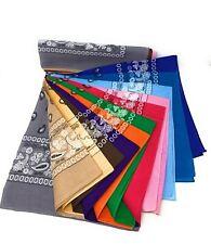 "LOT OF 6 PCS Bandana Head Wrap Scarf 100% Cotton Big 27""x27"" The color Pickup."