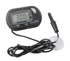 Digital LCD Fish Aquarium Tank Marine Water Thermometer Sensor Wired Black