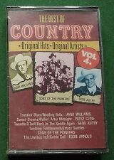 The Best of Country Vol 4 Hank Williams Patsy Cline + New Sealed Cassette Tape