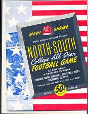 1950 12/25 North vs South All Star Football Game Program Miami Florida
