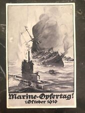 Mint WW 1 Imper German Navy U Boat Submarine RPPC Postcard Marine sacrifice day