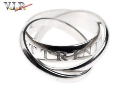 CARTIER Or Amour Tag Trinity Ring White Gold LIMITED-1998 18K/750