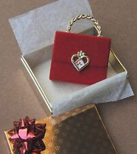 Barbie 90's rare doll house miniature present handbag purse in box