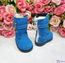 Yo-SD bjd MCC Doll Shoes Buckle Velvet Boots BLUE (for Foot 4.5cm long)