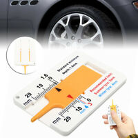 Car Tire Depth Gauge Tester Color Tyre Tread Metric Gage Motors Measures Tool@