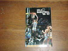 1986 UCLA Bruins Basketball Media Guide Reggie Miller Cover