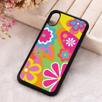 Flower Power Phone Case Multicolour iPhone X 11 12 Mini Pro Max Silicone Cover