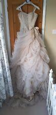 NEVER WORN Ian Stuart 'Antoinette' Wedding Dress Size 8-10 Ivory and Gold