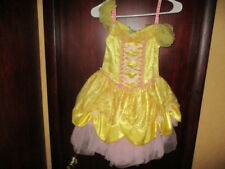 Disney Store Princess Belle Halloween Costume Dress-up Play Dress Girls Size 7/8