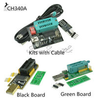 WCH341A Series 24 25 SPI Routing LCD Flash Writer USB Programmer With Cables Kit