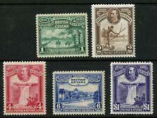 British Guiana  1931  Scott #  205-209  Mint Hinged Set