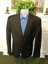 Chaps Slim Fit men's wool 42R Black Pin-Striped Blazer lined, 2 button front