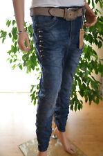 Karostar Lexxury Baggy Boyfriend Jeans Hose Stretch Big 46 Strass Neu Italy Sty.