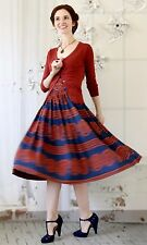 Girls From Savoy Anthropologie Oxidized Medallions Dress red blue strapless S