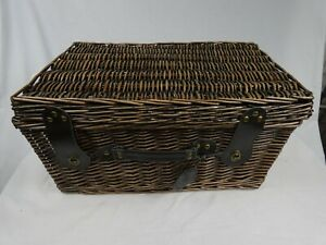Marks & Spencer the Collection Wicker Picnic Hamper Dark Brown with Handle