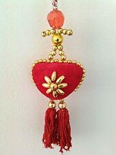 Heart-Shape Beaded Charm Ornament