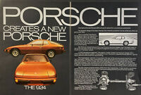 Vintage 1977 Porsche Creates A New Porsche The 924  2 Pg Print Ad Advertisement