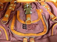 """NWOT George Gina & Lucy Nylon Burgundy Designer Handbag """"Lilly Strappy"""""""