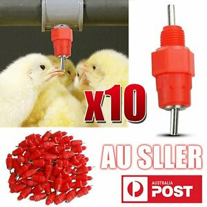 10 Pcs Water Nipple Valves Auto Drinker Waterer Feeder Poultry Chicken Duck Bird