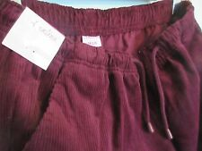 """WOMEN'S CORDUORY TROUSERS, SIZE 14 ELASTICATED I/L 27"""" COLOUR WINE, CHUMS NWT"""