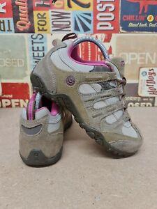 Ladies Womens Hi Tec Quadra Leather Hiking Walking Trail Lace Trainers Shoes UK4