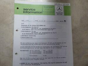 Service-Information Unimog Änderungen Bremsanlage Über 3000 Artikel im Shop!!!