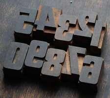0-9 Zahlen Holzzahlen 54mm Lettern Holzlettern Vintage letterpress numbers