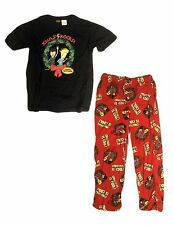 Men's MTV Beavis & Butthead Christmas 2 Piece PJs Pajamas Set - Size XX-L 44-46