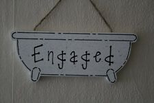 Lovely Decorative Handcrafted Wooden sign Black / White ENGAGED / VACANT
