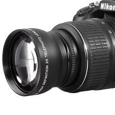58mm 2x Telephoto Lens for Canon 1300D 550D 650D 750D 60D 70D 80D w/18-55mm lens