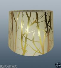 """CREAM LAMPSHADE TREE BRANCH EFFECT 11"""" EMPIRE DRUM  CEILING OR TABLE LAMP SHADE"""