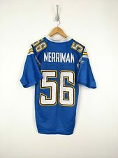 Reebok Shawne Merriman Jersey Adult Small Length +2 San Diego Chargers Blue