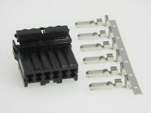 Harley Davidson OEM 73156-96BK 6 Wire Multi-lock MALE Connector & Terminals (6)