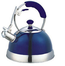 Uniware Heavy Duty Stainless Steel Metallic Whistling Tea Kettle Teapot, 2.5L