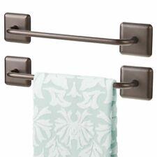 mDesign Metal Hand Towel Storage Bar, Strong Self Adhesive, 2 Pack - Bronze