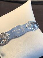 Gamma Phi Beta Sorority Bracelet Silver Plate Wm A Rogers Oneida Ltd Vintage