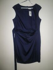 Target City Dressing Wrap Front Dress*rich Medium Blue Size 16
