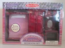 Superb NIB Melissa U0026 Doug Dollhouse Furniture 5 Piece Solid Wood Bedroom Set #2583  ...