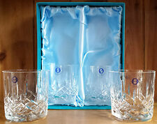 Crystal Hand Cut Whisky Glasses x 4 in Silk Lined Presentation Box (759-4)